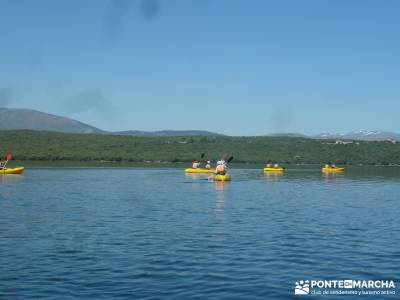 Piragua El Atazar;grupos de senderismo madrid vacaciones senderismo puente de mayo viajes